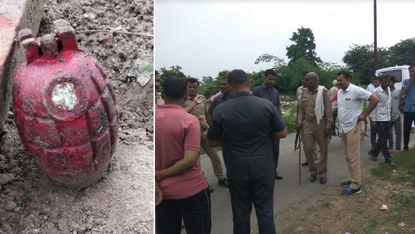 Hand grenade found in farrukhabad, VIDEO viral