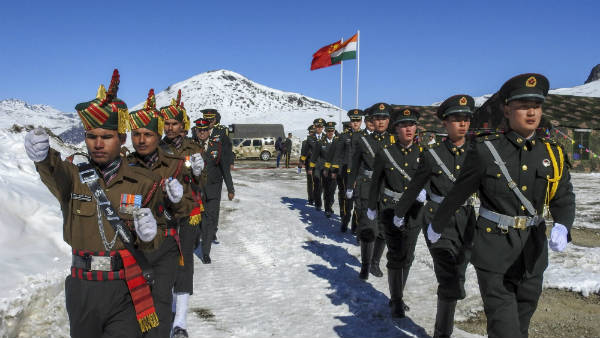 Indian and Chinese soldiers pushed