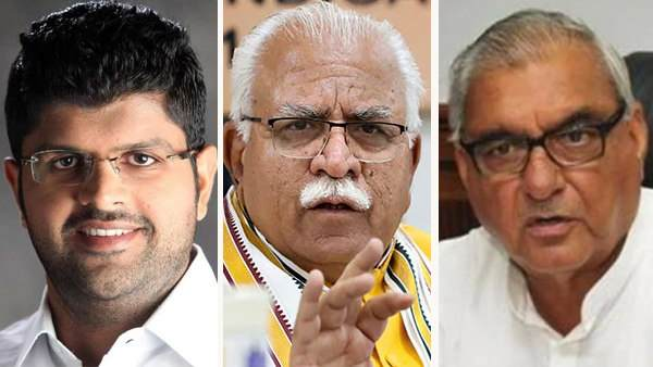haryana election results 2019 close fight seats