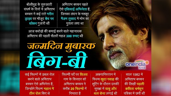 Amitabh is the name of an era ...