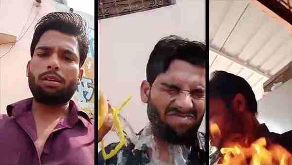 Man tries to immolate self during facebook live at police station in delhi