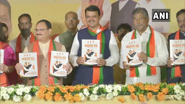 BJP releases partys manifesto for Maharashtra assembly elections 2019