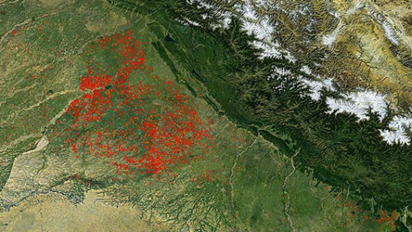 हरियाणा, पंजाब में पराली जलाने से बढ़ा प्रदूषण, NASA ने जारी की ताजा तस्वीरें