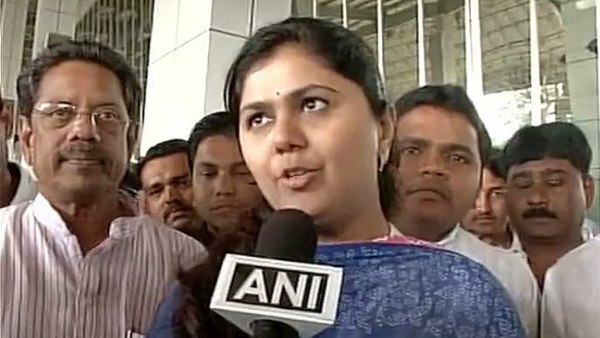 Pankaja Munde fainted while addressing a campaign rally at Parli in Beed