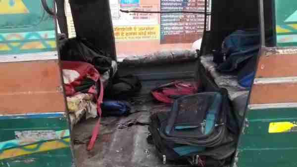 Roadways bus collision in tempu student-killed in Saharanpur
