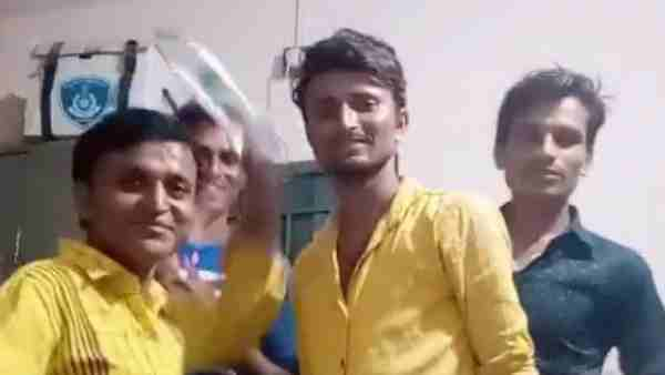 4 accused made a Tik Tok video inside the police station