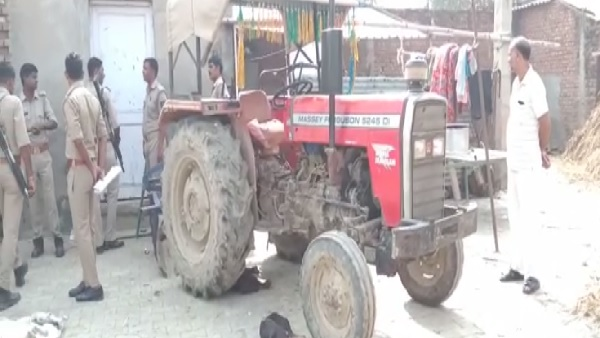 son did murder of his father in dispute of tractor in mathura