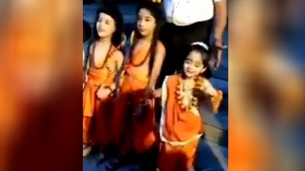 girl child dressed up as sita dance video viral on social media