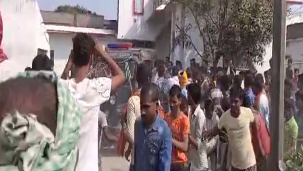 people did protest against double murder in begusarai