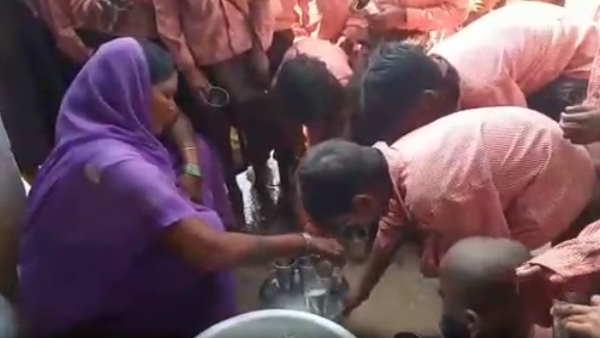 मिड-डे मील में एक लीटर दूध में एक बाल्टी पानी मिलाकर 81 बच्चों में बांटा गया, वीडियो वायरल