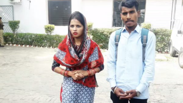 newly married couple reached at ssp office meerut