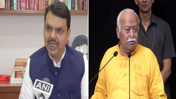 Maharashtra CM Devendra Fadnavis reaches RSS Headquarters to meet RSS Chief Mohan Bhagwat