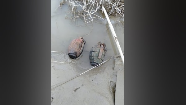 two hand grenade found at ganga river in farrukhabad