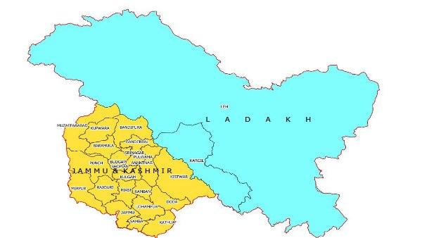 370 हटने के बाद ऐसा दिख रहा है जम्मू कश्मीर और लद्दाख ,सरकार ने जारी किया नक्शा