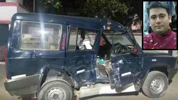 मेरठ: पुलिस की गाड़ी में ट्रक ने मारी टक्कर, सिपाही की मौत, दरोगा सहित तीन गंभीर