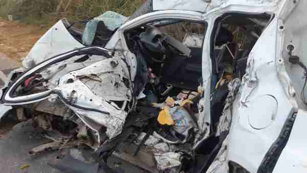 Five people died in road accident in Meerut