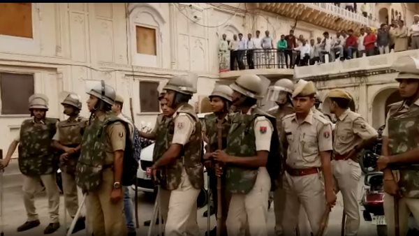 Now police lawyers clash in alwar rajasthan