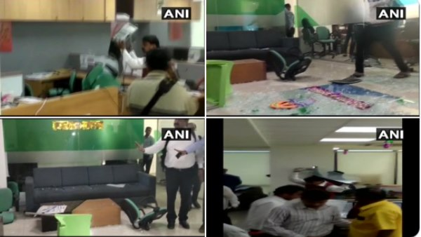 Shiv Sena workers vandalised IFFCO Tokio Insurance Company office in Pune