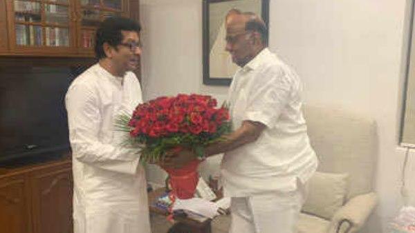 महाराष्ट्र: अनिश्चितताओं के बीच एनसीपी सुप्रीमो शरद पवार से मिले राज ठाकरे