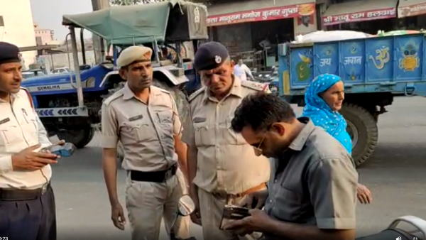 haryana gohna traffic police did challan of 28 thousand rupees