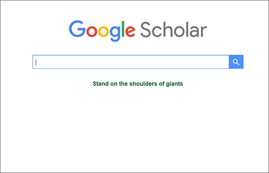 Google साइट का एक अलग सेक्शन है Google Scholar