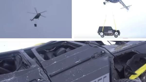 Video: करोड़ों की गाड़ी खराब होने पर आया गुस्सा, हेलीकॉप्टर से गिराकर तोड़ दी