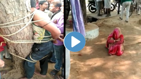 lover beaten by Girlfriends Husband in Bhind Madhya Pradesh