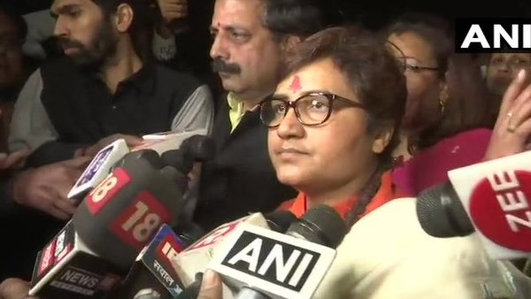 BJP MP Pragya Thakur demands FIR against Congress MLA over threat to burn her in Madhya Pradesh