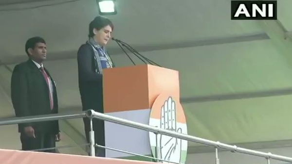 Congress leader Priyanka Gandhi statement on modi government in Bharat bachao rally
