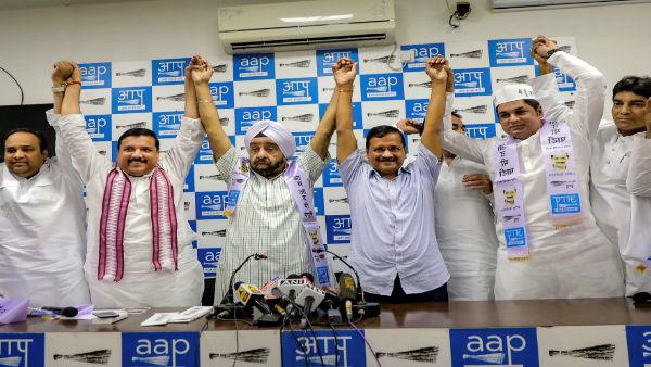 24 घंटे पहले पार्टी में शामिल इन नोताओं को AAP ने दिया टिकट