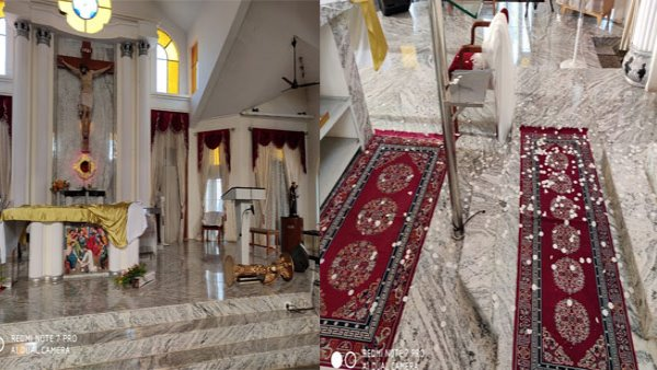 Bengaluru Church of St Francis of Assisi Kengeri was vandalised by unidentified miscreants