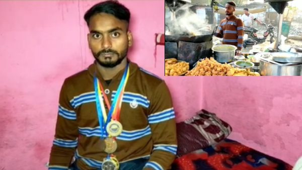 pakoda seller Kanpur youth become state level champion of weightlifting