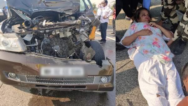 <strong>ट्रक से भिड़ी शबाना आजमी की कार, एक्सीडेंट में गंभीर रूप से घायल हुईं दिग्गज एक्ट्रेस</strong>