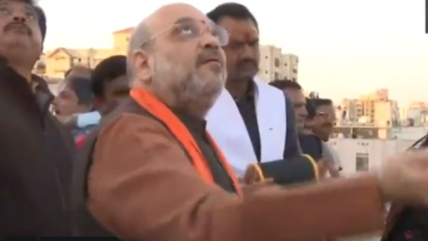 Watch: Amit Shah flying kite at Ahmedabad, Video goes to viral