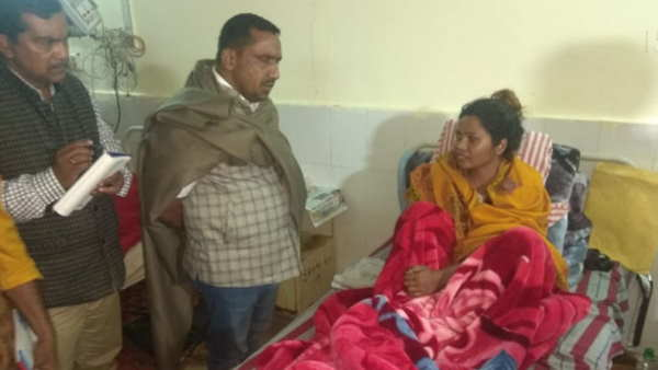 jharkhand ranchi health minister banna gupta donate blood for patient