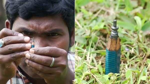 महाशिवरात्रि: ओडिशा के आर्टिस्ट ने पेंसिल की निब पर बनाया शिवलिंग, देखिए तस्वीरें