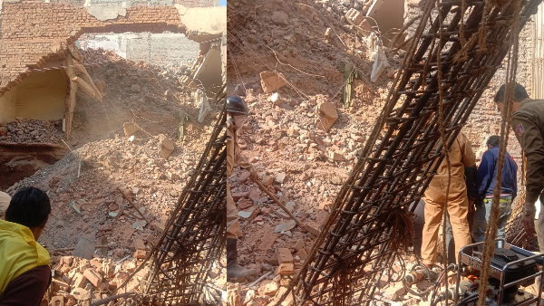 Delhi: A house collapses in CR Park two persons feared trapped under the debris
