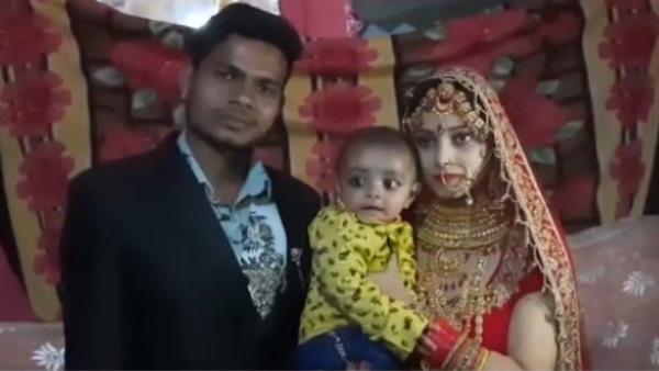 लव स्टोरी : पहले बेटा पैदा किया फिर की शादी, दुल्हन की गोद में था 7 माह का बेटा, जमकर नाचे परिजन