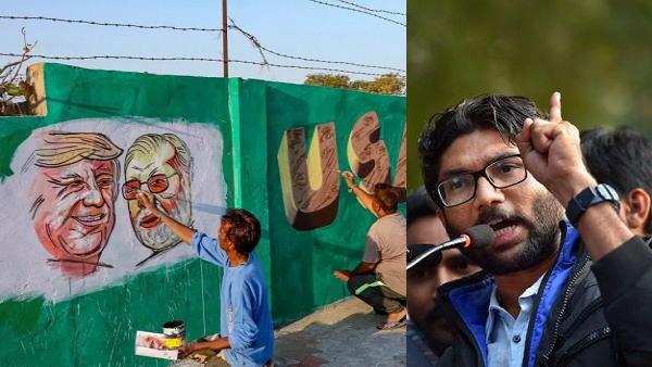 'गरीब मां का बेटा ही गरीबों के घर छुपा रहा है', दीवार पर जिग्नेश मेवाणी ने PM मोदी को घेरा