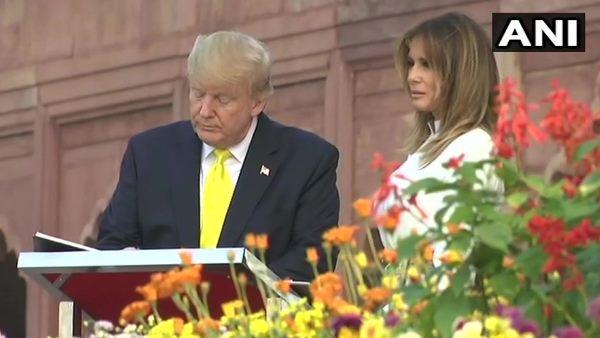 Trump taj mahal visit: विजिटर बुक में ट्रंप ने लिखी ये बातें