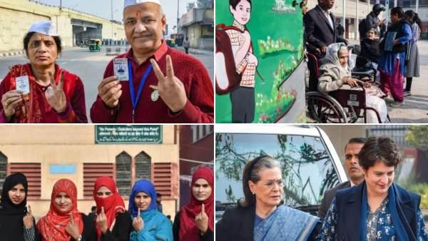 Delhi Assembly Election: दिल्ली में मतदान जारी, देखिए वोटिंग से जुड़ी खास तस्वीरें