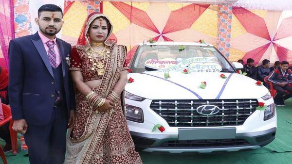 Sikar Dulhan Car Gift : टीचर ने इंजीनियर बेटे की शादी बिना दहेज करके बहू को तोहफे में दी कार
