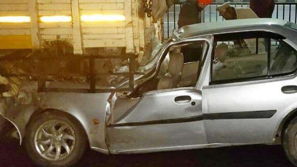 car rammed into truck two dead including groom in ludhiana