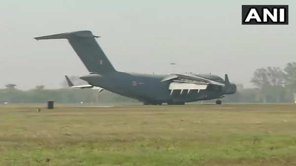 airforce c 17 taken off from tehran with 58 indian pilgrims