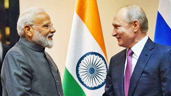 Prime Minister Narendra Modi had a telephone conversation with Russian President Vladimir Putin today