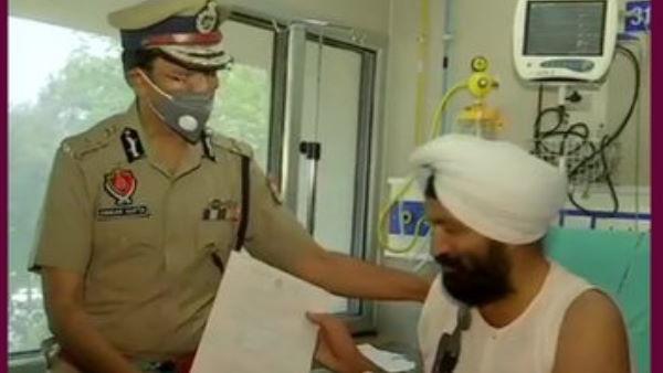 अस्पताल से डिस्चार्ज हुए सब इंस्पेक्टर हरजीत, DGP ने खुद सौंपा बेटे की नियुक्ति का पत्र