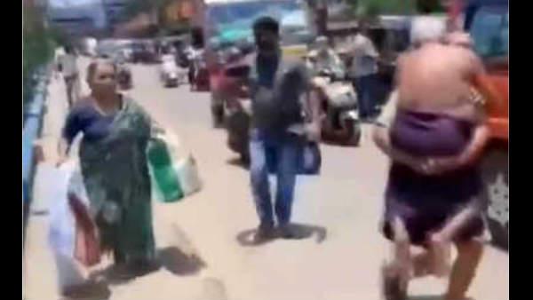 Lockdown: पुलिस ने अस्पताल ले जाने आए ऑटो को रोका, बीमार बाप को पीठ पर बैठाकर दौड़ा बेटा, VIDEO वायरल