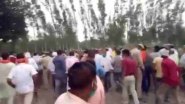 Angry villagers chase BJP MLA Baba Gorakhnath in sugarcane field
