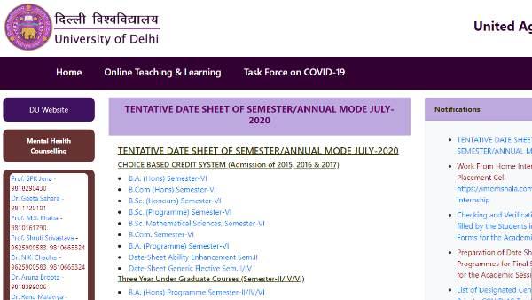 Photo of DU date sheet 2020: दिल्ली विश्वविद्यालय ने जुलाई में होने वाली परीक्षा के लिए जारी किया शेड्यूल