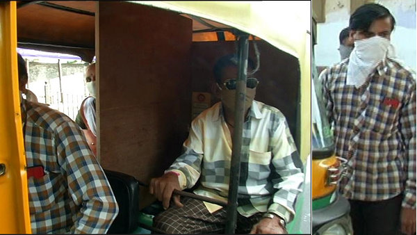 auto driver change in three wheeler to save passenger from infection of covid-19